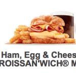 Burger King Breakfast items