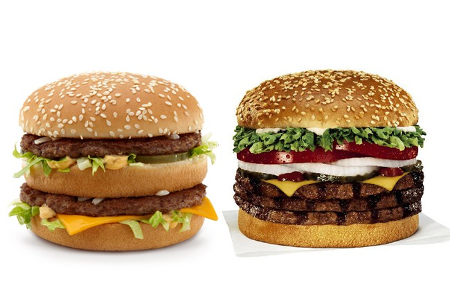 Caloric Comparison – Big Mac vs. Whopper