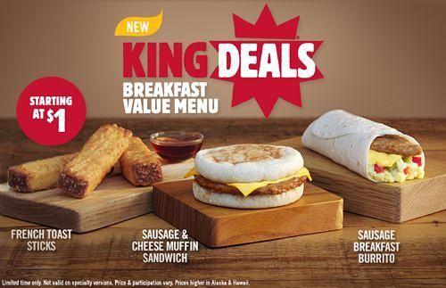 Burger King Breakfast Menu – Have a breakfast Egg Benny