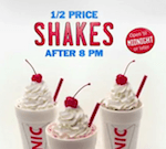 SONIC SHAKE PRICES