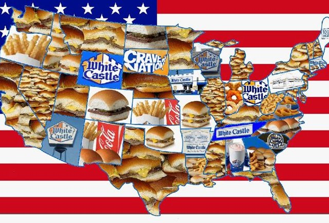 White Castle on map