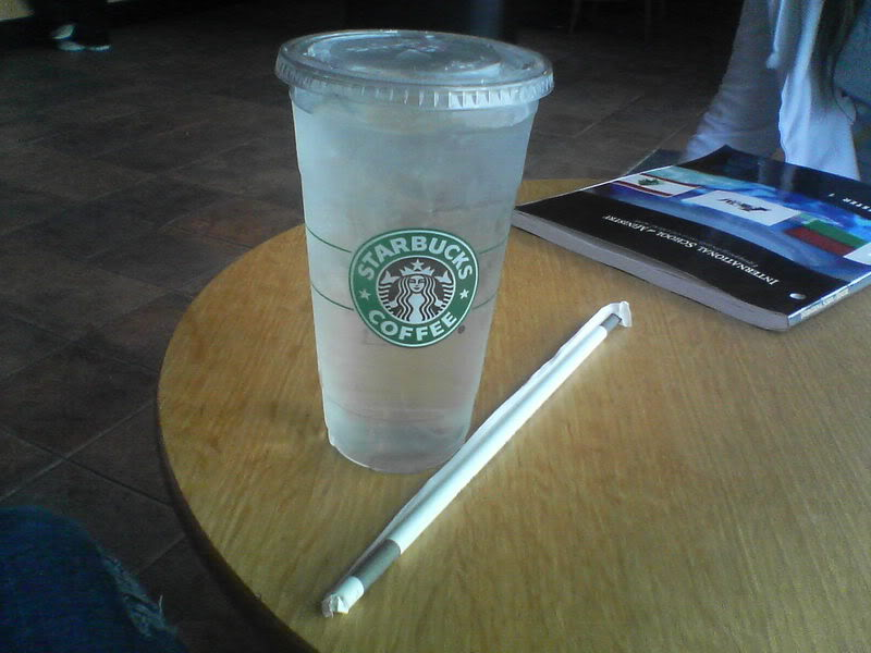 Venti Water Starbucks