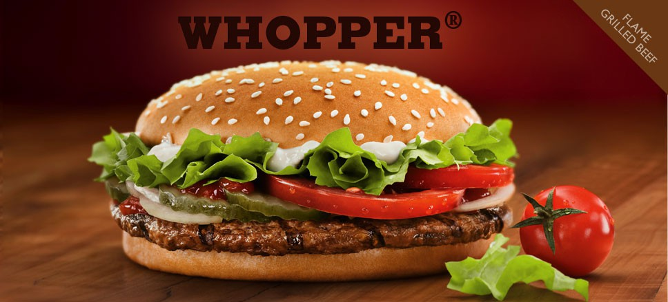 Whopper Burger Fresh