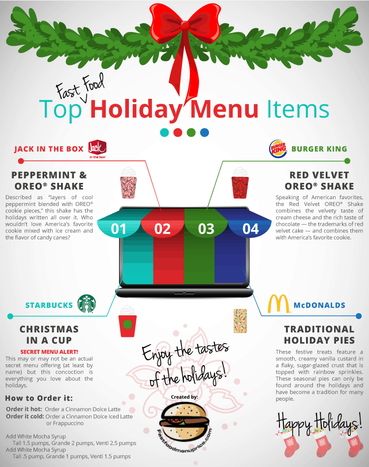 holiday fast food menu