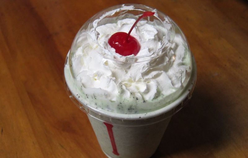 Jack in the box secret menu - Mint Oreo Shake