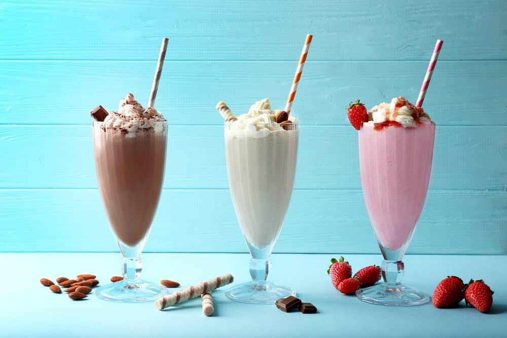 3 great looking milkshakes